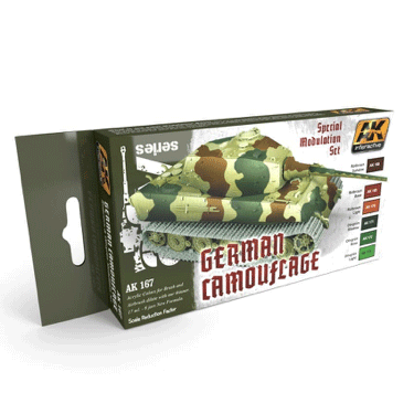 AK Interactive German Camouflage Modulation Paint Set