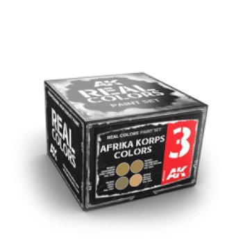 AK Interactive Real Colours Afrika Korps Colours Paint Set