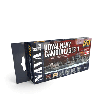 AK Interactive Royal Navy Camouflages 1 Paint Set