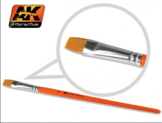 AK Interactive Synthetic Flat Brush (size 8)