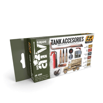Ak Interactive Tank Accessories Paint Set