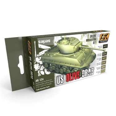 AK Interactive U.S. Olive Drab Modulation Paint Set