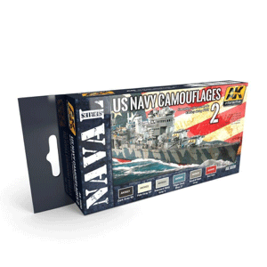 AK Interactive US Navy Camouflages 2 Paint Set