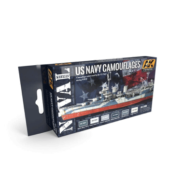 AK Interactive US Navy Camouflages Paint Set