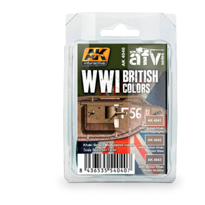 AK Interactive WWI British Khaki Brown Modulation Paint Set