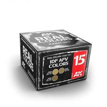 AK Real Colours IDF AFV Colours Paint Set