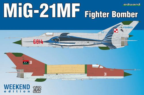 Eduard 1/72 MiG-21MF Fighter Bomber Weekend Edition