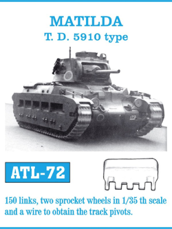 Friul Model 1/35 Matilda T.D. 5910 Type Tracks