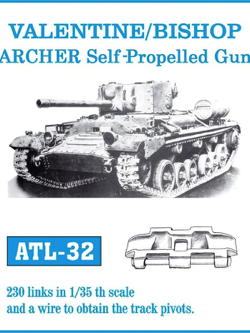 Friul Model 1/35 Valentine/Bishop/Archer Self-Propelled Gun Tracks
