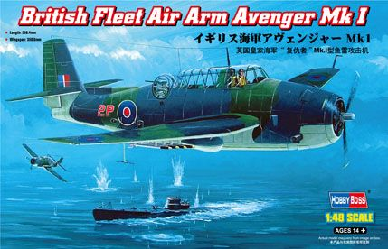 Hobby Boss 1/48 British Fleet Air Arm Avenger Mk.I