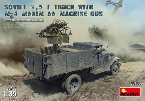 Miniart 1/35 Soviet 1.5 T Truck with M-4 Maxim AA Machine Gun