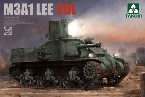 Takom 1/35 M3A1 LEE CDL (Canal Defence Light)