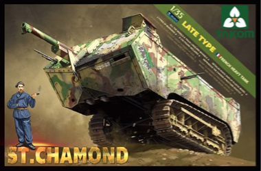 Takom 1/35 St. Chamond French Heavy Tank, Late Type