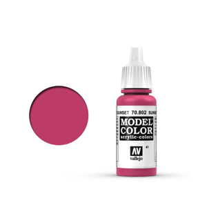 Vallejo Model Colour 70.802 Sunset Red, Acrylic Paint