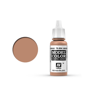 Vallejo Model Colour 70.804 Beige Red, Acrylic Paint