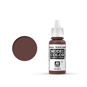 Vallejo Model Colour 70.814 Burnt Red, Acrylic Paint