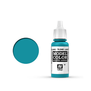 Vallejo Model Colour 70.840 Light Turquoise, Acrylic Paint
