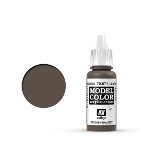 Vallejo Model Colour 70.871 Leather Brown, Acrylic Paint