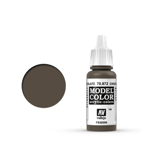 Vallejo Model Colour 70.872 Chocolate Brown, Acrylic Paint