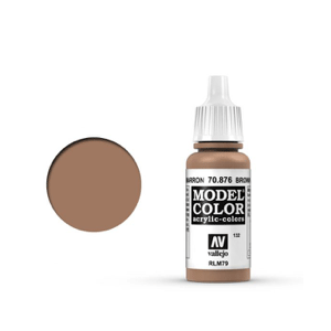 Vallejo Model Colour 70.876 Brown Sand, Acrylic Paint