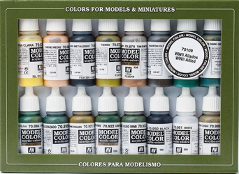 Vallejo Model Colour Allied Forces WWII Paint Set