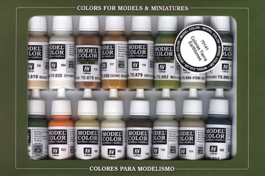 Vallejo Model Colour Earth Tones Paint Set