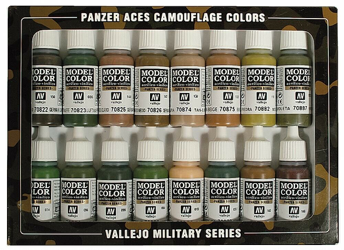 Vallejo Model Colour Panzer Aces Camouflage Paint Set